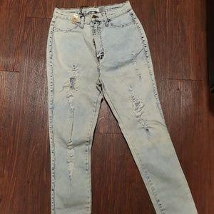 High waist acid stretch jeans size 13